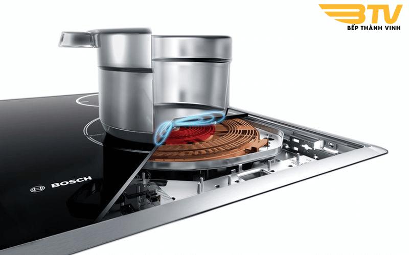 nhận diện vùng nấu bếp từ Bosch